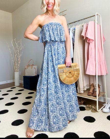 Maxi dress - wearing in small  Perfect for a vacation outfit look       Maxi dress , summer dress / vacation outfit / vacation dress / petite /  summer fashion / beach vacation / bamboo purse / target style / amazon fashion / dresses / coverup / wedding guest dresses #ltkitbag / #ltkseasonal #ltkstyletip           #LTKunder50 #LTKtravel #LTKwedding http://liketk.it/3k3q0 @liketoknow.it #liketkit