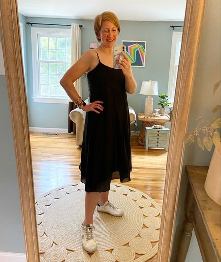 """Dress is from CP shades called the Lia pleated front dress. I'm in an XS. Shoes are TTS and mine are the """"grey/black"""" combo."""