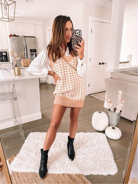 Sweater vest dress Abercrombie style   #LTKSeasonal #LTKstyletip #LTKunder100