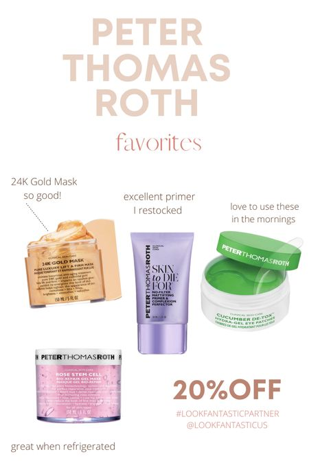 Look fantastic sale!! Peter Thomas Roth products are on sale. I linked my faves   #LTKbeauty