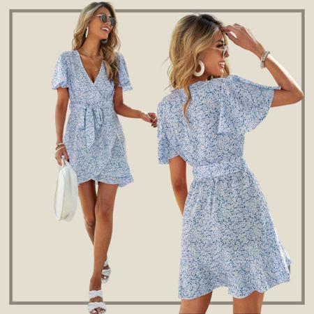 Floral belted wrap dress  #LTKunder50 #LTKunder100 #LTKstyletip