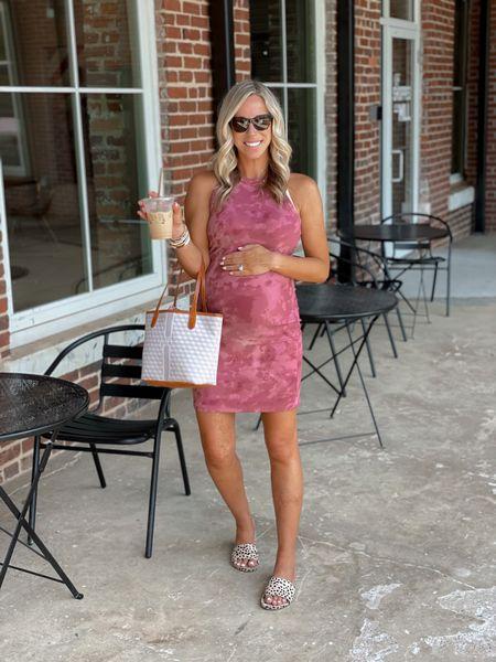 Tie dye ribbed dress  #LTKunder50 #LTKbump #LTKbeauty