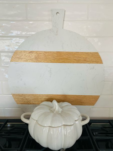 Added this cutting board to my kitchen and love it! Plus this pumpkin serving dish is only $15!   #LTKsalealert #LTKhome #LTKunder50