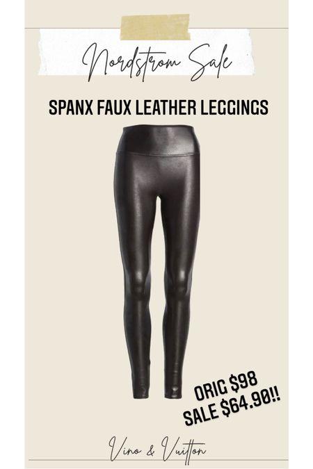 Spanx faux leather leggings !! #liketkit http://liketk.it/3jFCH @liketoknow.it #LTKsalealert #LTKunder100 #LTKstyletip