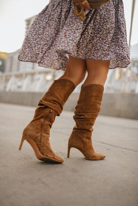 Favorite slouchy boots of the moment! They run true to size!   #LTKSeasonal #LTKunder100 #LTKshoecrush