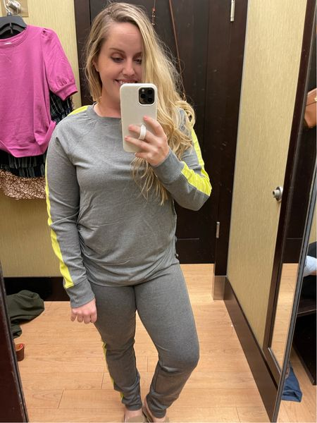 Workwear, office outfit, back to work, business casual, kohl's, Vera wang, track suit, joggers, neon, work from home  #LTKstyletip #LTKunder100 #LTKworkwear