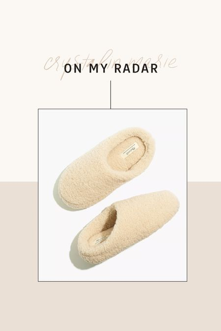 Madewell Sherpa slippers- on sale!   #LTKsalealert #LTKSale #LTKunder50