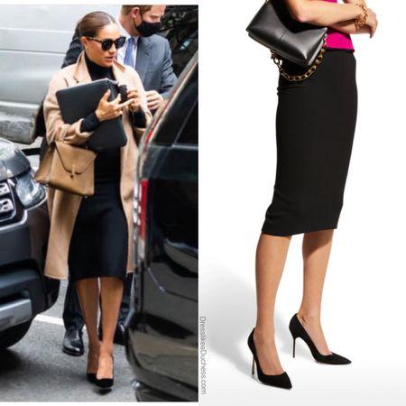 Meghan wearing Roland Mouret Arreton pencil skirt #work #professional   #LTKworkwear #LTKstyletip
