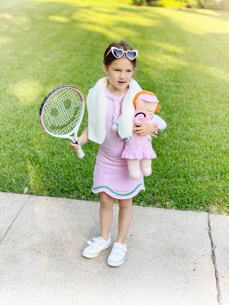 Our girl is ready for tennis! Linking her racquet, doll, and outfit below.   #LTKkids #LTKfit