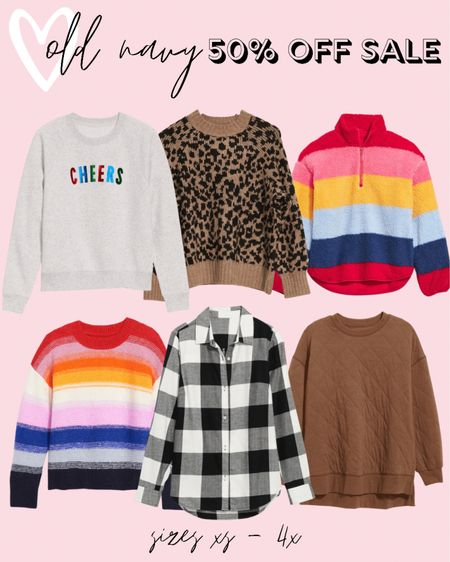 So many cute fall fashion finds on sale today! All plus size sweaters, sweatshirts, flannels - EVERYTHING is 50% off! These Old Navy plus size fashion finds also come in regular sizes!   #LTKcurves #LTKsalealert #LTKHoliday