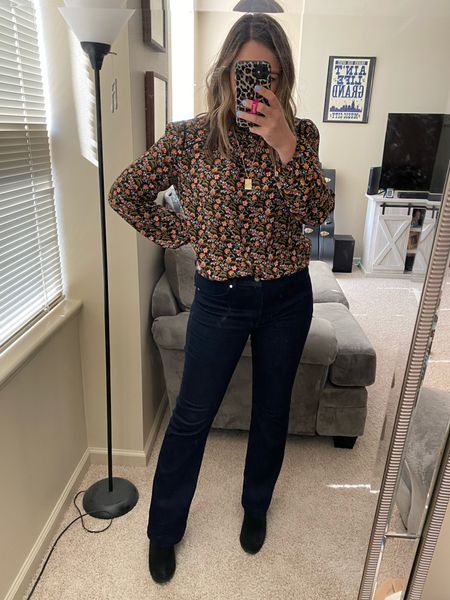 These boot cut jeans are so comfy and easy to dress up or down! Under 20 in cart! Fully stocked! (I'm shocked!) perfect for work or play.   #LTKunder50 #LTKsalealert #LTKworkwear