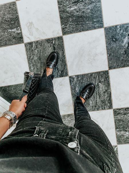 Uniform: Abercrombie front slit jeans & loafers!   #LTKunder100 #LTKshoecrush