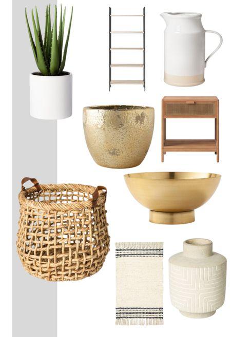 Neutral home accessories - white, gold, wood and beige.   #LTKunder100 #LTKhome #LTKunder50