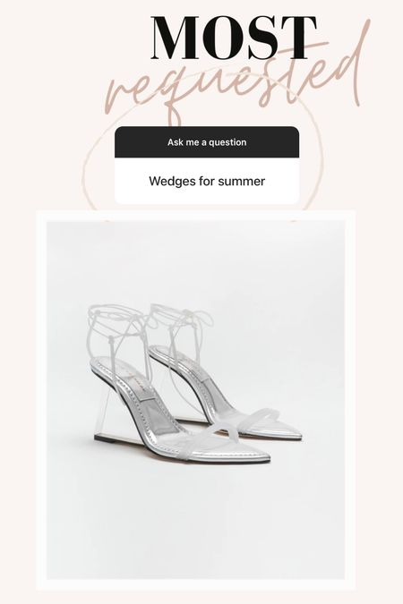 Wedges  Wedge shoes  Summer sandals  Clear heels  Summer outfit  Wedding guest outfit   Follow me on my Insta @drluxy for more inspo     #LTKwedding #LTKshoecrush #LTKtravel