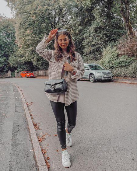 Autumn fall fashion outfit ideas Shacket Leather leggings Coach tabby bag  #LTKSeasonal #LTKeurope #LTKshoecrush
