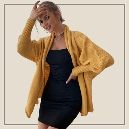 Open front dolman sleeve cardigan sweater   #LTKstyletip #LTKunder50