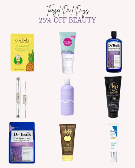 Target is having their Deal Days right now. Get 25% off beauty and personal care. Now is the time to stock up on everyday items.   Double tap this post to save it for later.   Follow me for more ideas and sales.   #LTKbeauty #LTKsalealert #LTKunder50