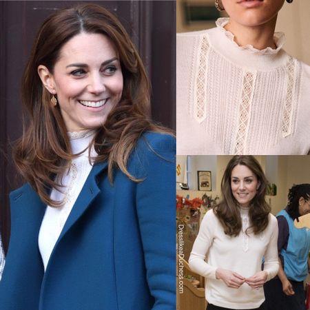 Kate Middleton in Sezane Tulio Jumper http://liketk.it/2JHfe #liketkit @liketoknow.it