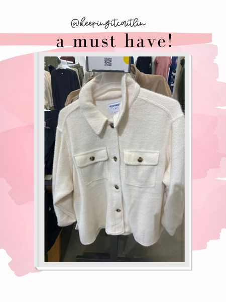 Old navy sherpa jacket. So so soft!!   #LTKstyletip #LTKunder50