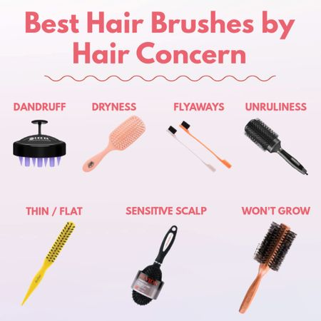 New blog post on theimportant-things.com on what types of hair brushes you should be using for your hair type and hair concerns!   #LTKunder100 #LTKbeauty #LTKunder50
