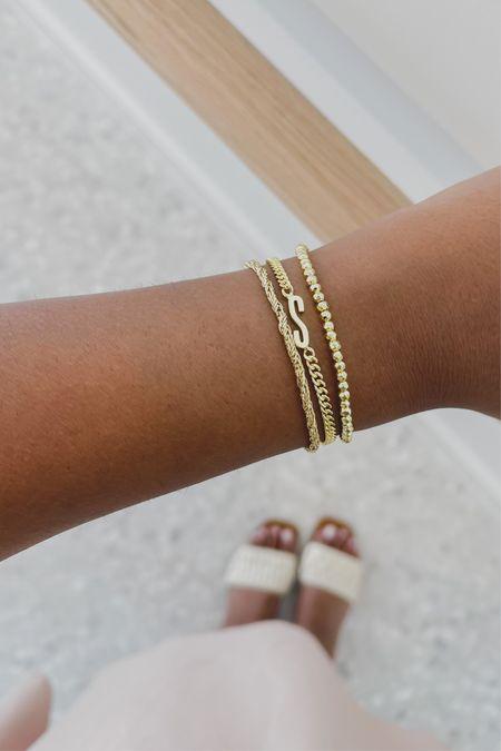 I have completed my gold bracelet stack! Everything is from gorjana😍  #LTKstyletip #LTKunder50 #LTKSeasonal