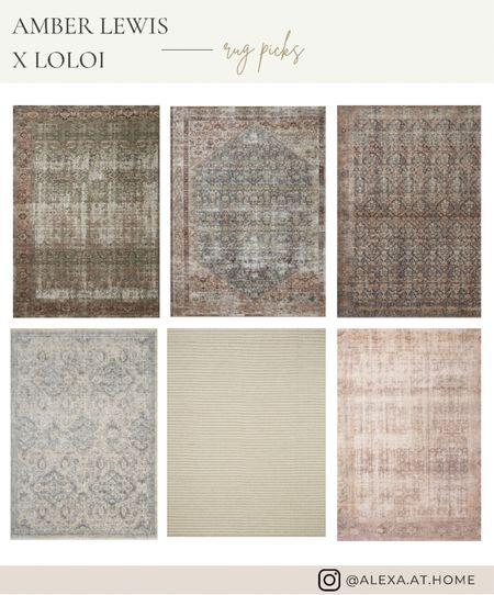Amber Lewis x Loloi rug picks 😍  Vintage rugs, rugs, area rugs, laid back style, rug style    #LTKstyletip #LTKhome #LTKSeasonal