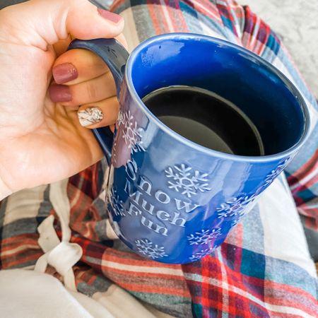$5 target mug and nail gel sheet for $7. All the Christmas pajamas too!  #LTKhome #LTKbeauty #StayHomeWithLTK