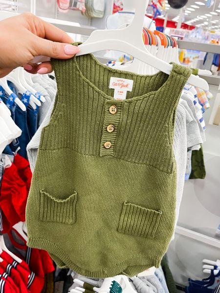 Sweater romper that would be cute on a girl or boy (sizes 0-18)   #LTKbaby #LTKSeasonal