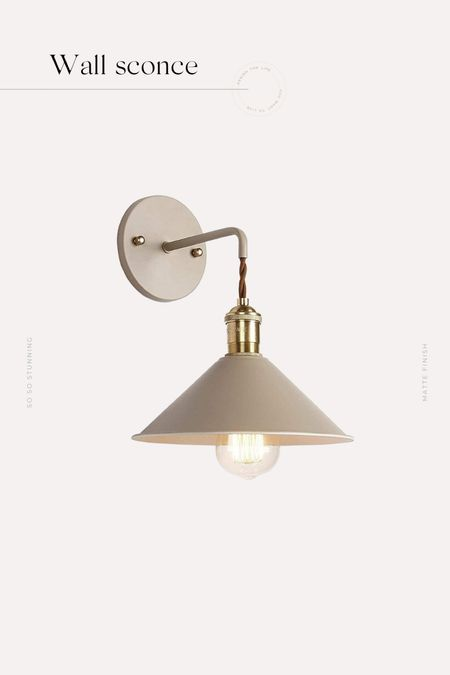 We super love this wall sconce and the matte finish. The price is also incredible !! We also ordered two in white.