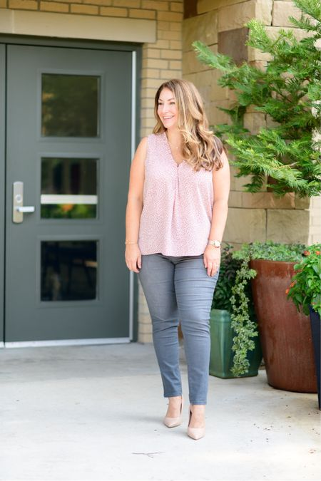 Gibsonlook x The Recruiter Mom Fall Outfit  Code RYANNE15 for 15% off all new arrivals with gibsonlook  V-neck blouse, size up for larger chest, L // Jeans, tts 12 // Pumps, tts  Fall Style  Women's Clothing  Fall Outfits  #LTKstyletip #LTKSeasonal #LTKshoecrush