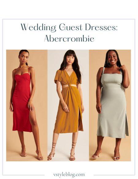 Wedding guest dresses, Fall outfits, Fall family photos, Midi dress, Cutout dress, Slip dress, Sale alert, LTK Day Sale  Abercrombie  High-Slit Midaxi Dress ($120) Knot-Front Cutout Midi Dress (was $89, now $59.99) Open Tie-Back Slip Midi Dress ($110)  #LTKwedding #LTKsalealert #LTKSale