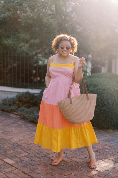 Another fun summer dress!!!  This beauty fits TTS! 💛💛🧡 http://liketk.it/3hO3y #liketkit @liketoknow.it You can instantly shop all of my looks by following me on the LIKEtoKNOW.it shopping app