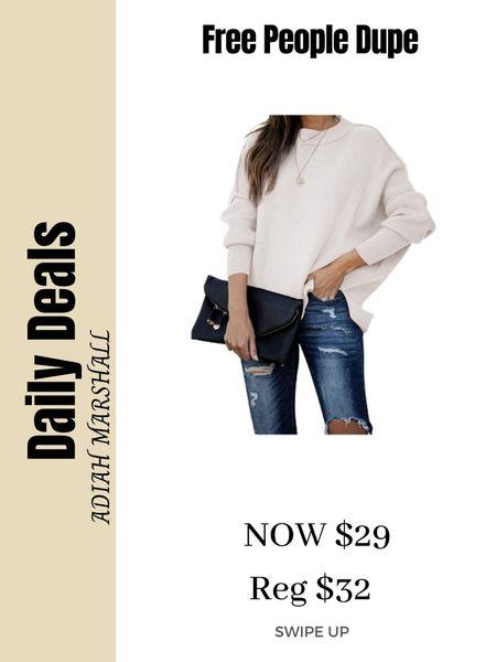 Free People Dupe Sweater  $29 Wear a size Small  #LTKunder50 #LTKstyletip #LTKSeasonal