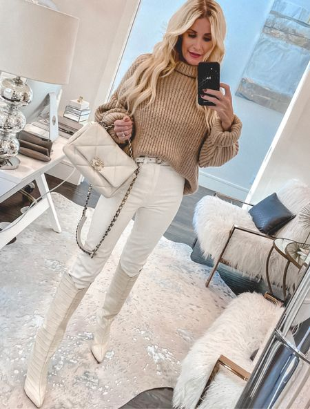 Neutrals for the win! I love these gorgeous ivory boots! They look amazing with denim but look great with dresses and skirts too!!   Follow my shop @soheatherblog on the @shop.LTK app to shop this post and get my exclusive app-only content!  #liketkit #LTKstyletip #LTKSeasonal #LTKshoecrush @shop.ltk http://liketk.it/3oSYx