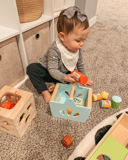 Playroom. Baby girl toys. Toddler girl. Bows. Toddler toys. Wooden toys. Wooden shopping basket. Wood shape sorter. One year old toys. Amazon finds. Playroom organization. Montessori toys. Alphabet rug. @liketoknow.it @liketoknow.it.home @liketoknow.it.family http://liketk.it/3fjhl #liketkit #LTKbaby #LTKhome #LTKfamily