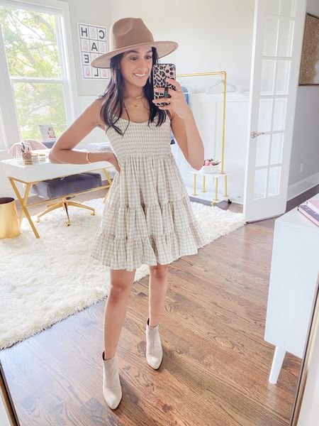Dress with booties   #LTKunder50 #LTKstyletip #LTKsalealert