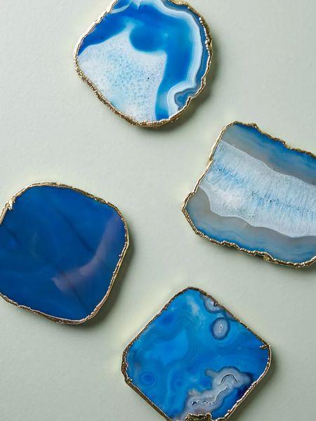 Blue agate coasters.   http://liketk.it/3jr4D @liketoknow.it #liketkit #LTKhome #LTKsalealert