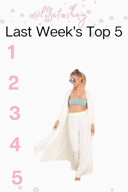 Top 5 items from last week. Perfect summer/beach 2 piece set. http://liketk.it/3fvCO #liketkit @liketoknow.it #LTKsalealert #LTKstyletip #LTKunder100