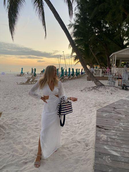 Cut out dress - chiffon dress - NastyGal dress - Prada tote bag - Prada beach bag - Prada bag - white dress - lace dress - wedding style - wedding dress   #LTKSeasonal #LTKunder50 #LTKeurope