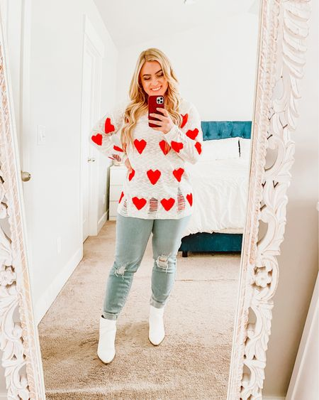 Cutest heart sweater for under $45! ❤️ perfect for Valentine's Day! http://liketk.it/37BA4 #liketkit @liketoknow.it #LTKstyletip #LTKunder50 #LTKSeasonal