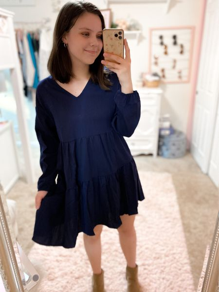 Loving this amazon fashion dress, true to size & comes in more colors. Target booties fit true to size as well. #targetstyle #amazonfashion   #LTKshoecrush #LTKSeasonal #LTKunder50