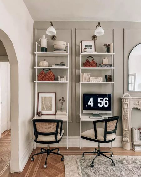 Back to the office, home office, desk chairs, small space desks, fall decor     #LTKhome #LTKSeasonal