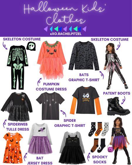 Halloween Kids' clothes and costumes!  Halloween costumes for kids | Halloween clothes for kids | kids Halloween costumes | Halloween dress | Halloween T-shirt | Rachel Pitzel | #xorachelpitzel #rachelpitzel #halloween #ltkfall #fall #costumes #halloweencostumes #StayHomeWithLTK #LTKunder100 #LTKunder50 #ltksalealert @liketoknow.it #liketkit http://liketk.it/2UPcR