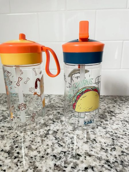 Toddler and kids water bottles for on the go! Dishwasher safe. Comes as a set of 2 cups by zak! from Target!   #LTKbaby #LTKkids #LTKfamily