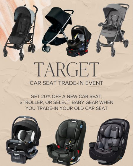 Target Car Seat Trade-in event is happening until 9/25! Get 20% off a new car seat or baby gear when you trade your old car seat in.   #LTKkids #LTKsalealert #LTKbaby