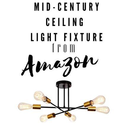 Amazon find, Light fixture, mid-century, light, ceiling light, home decor, home decor inspiration   #LTKhome #LTKstyletip #LTKunder50