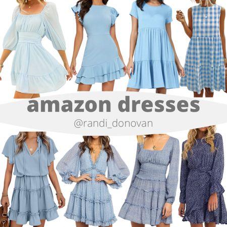 Amazon blue dress collection  http://liketk.it/3fEC6 #liketkit @liketoknow.it   #LTKunder50 #LTKwedding #LTKtravel