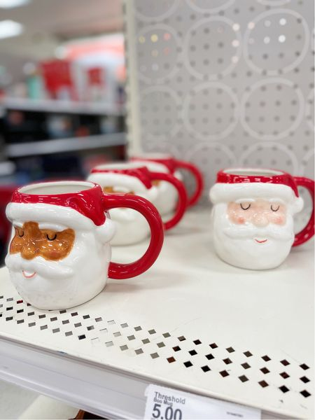 Cutest $5 Santa mugs!   #LTKHoliday #LTKSeasonal #LTKunder50