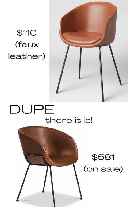 Leather dining chair, faux leather dining chair, tub chair, dupe, look for less, splurge or save, fall new arrivals, target furniture   #LTKhome #LTKSeasonal