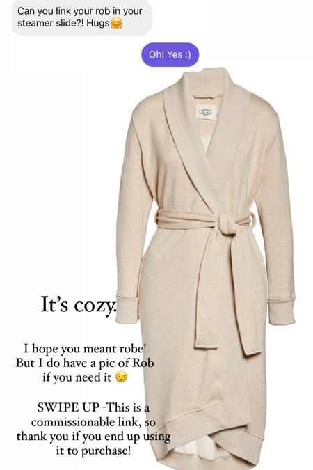 Favorite cozy robe right now!